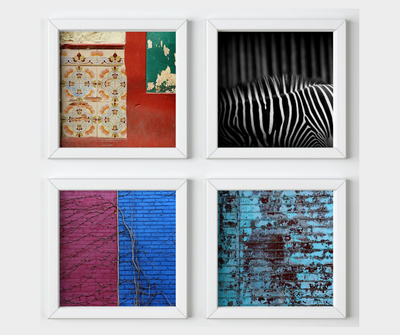 Abstract collection, 4 square prints, photography
