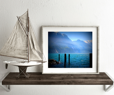 Light on the Lake, fine art print, Lago del Garda, Italian Dolomiti Alps