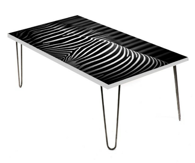 Lincoln Park, coffee table, LAMOU design, hairpin legs