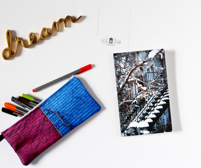 Custom gift set, Notebook and pencil case duo