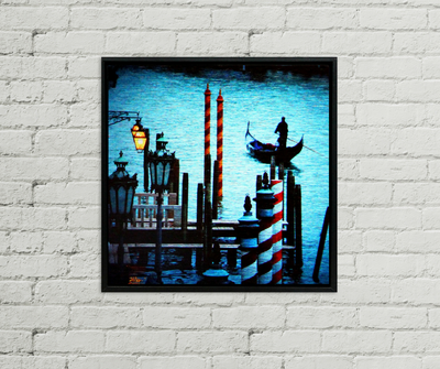 Return Again, aluminum metal wall art, Venice Italy photography