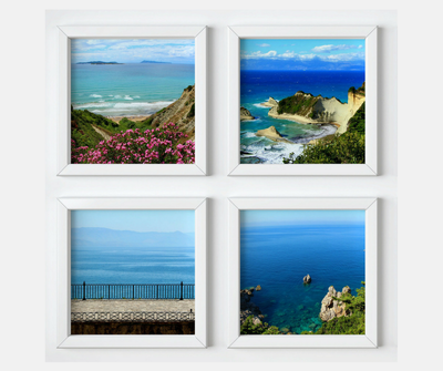 Seascapes collection, 4 square prints