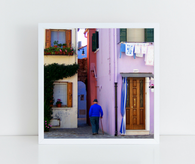 Sunday in Burano, fine art print, Venice photography